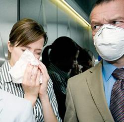 Опасность заражения пневмонией в общественном транспорте