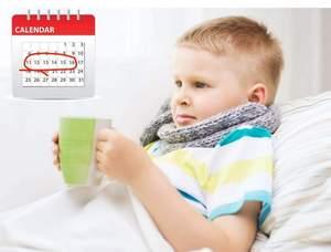 Ребенок больной ОРВИ и календарь