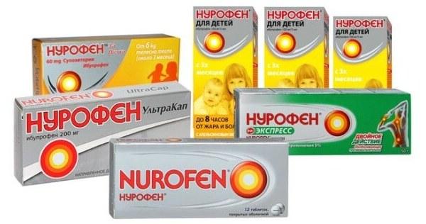 Линейка препаратов Nurofen