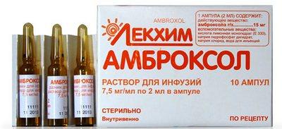 Амброксол раствор для инфузий