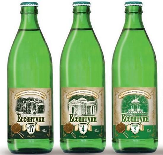 Три бутылки минералки Ессентуки
