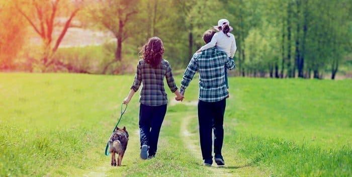 Семейная прогулка на свежем воздухе